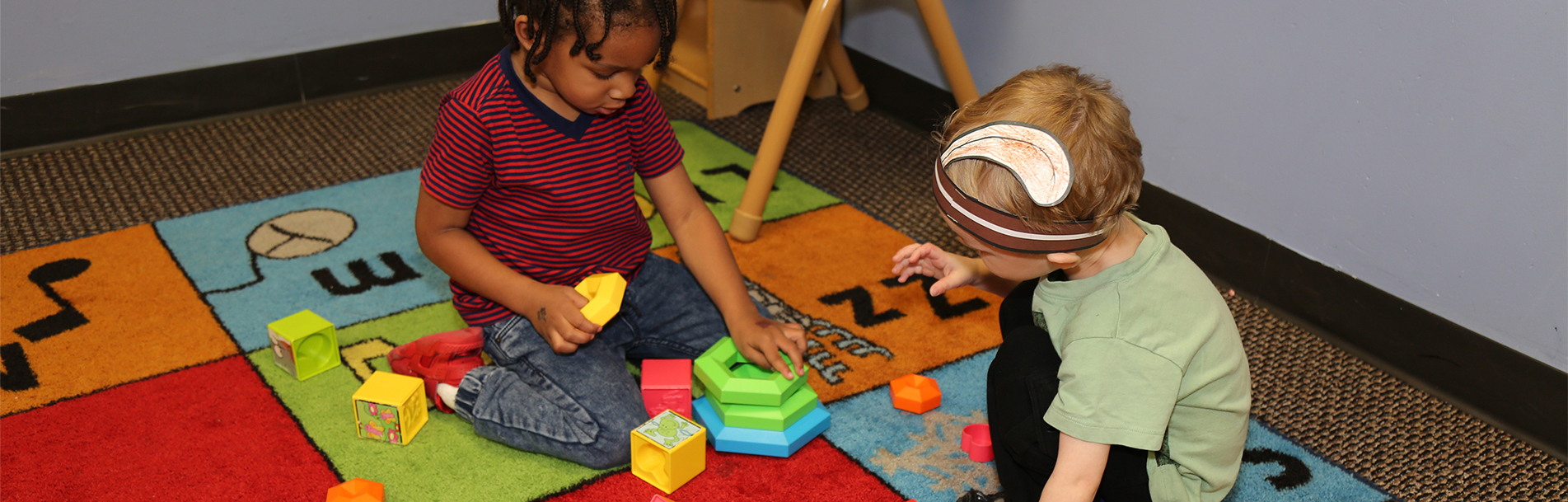 Children Playing Together at Kid City Child Care